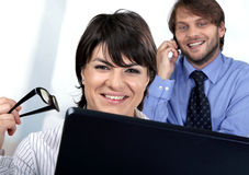 Call us business people. We can do it for you stock image