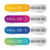 Call us button set Royalty Free Stock Image