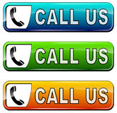Call us buttons Stock Photos