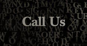 Call Us - 3D rendered metallic typeset headline illustration Stock Images