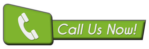 Call Us Now Green Triangle Horizontal Stock Photography
