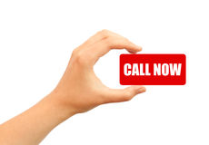 Call us now Stock Photo