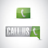 Call us pin pointer sign illustration design Royalty Free Stock Images