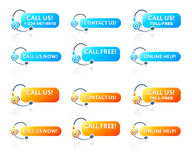 Call us! stickers Royalty Free Stock Images