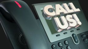 Call Us Telephone CTA Order Now Words Royalty Free Stock Images
