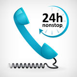Call us twenty four hours nonstop. Icon. customer support Stock Illustration