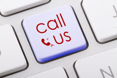 CALL US. Word written on computer keyboard Royalty Free Stock Photos