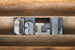 Call wooden tray Stock Images