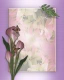 Calla lelie en vlindersmalplaatje Stock Foto's
