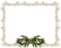 Calla Lilies floral Border Wedding invitation Stock Photos