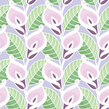 Calla Lilies Flowers Pattern Stock Photography