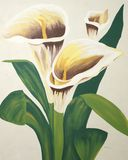 Calla Lilies Painting Royalty Free Stock Photography