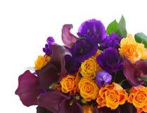 Calla lilly και λουλούδια eustoma Στοκ Εικόνες