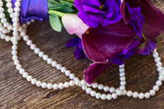 Calla lilly και λουλούδια eustoma Στοκ Φωτογραφίες
