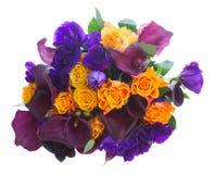 Calla lilly και λουλούδια eustoma Στοκ φωτογραφίες με δικαίωμα ελεύθερης χρήσης