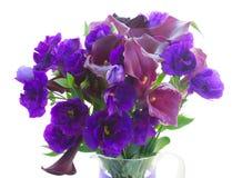 Calla lilly και λουλούδια eustoma Στοκ εικόνα με δικαίωμα ελεύθερης χρήσης