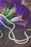Calla lilly και λουλούδια eustoma Στοκ εικόνες με δικαίωμα ελεύθερης χρήσης