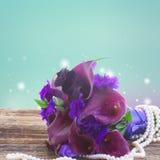 Calla lilly и цветки eustoma Стоковое Изображение