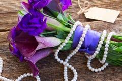 Calla lilly и цветки eustoma Стоковая Фотография