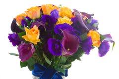 Calla lilly и цветки eustoma Стоковое Фото
