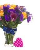 Calla lilly и цветки eustoma Стоковые Фотографии RF