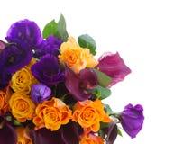 Calla lilly e fiori di eustoma Fotografie Stock Libere da Diritti