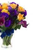 Calla lilly en eustomabloemen stock fotografie
