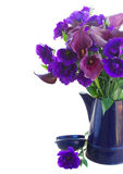 Calla lilly and eustoma flowers Royalty Free Stock Image