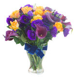 Calla lilly and eustoma flowers Royalty Free Stock Images