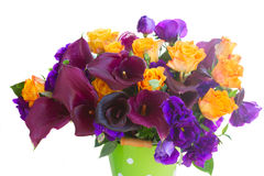 Calla lilly and eustoma flowers Royalty Free Stock Photo