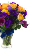 Calla lilly and eustoma flowers Stock Photography