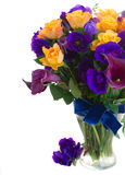 Calla lilly and eustoma flowers Royalty Free Stock Photography