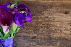 Calla lilly and eustoma flowers Stock Image
