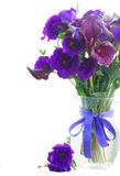 Calla lilly and eustoma flowers Stock Images