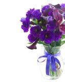 Calla lilly och eustomablommor Royaltyfria Foton