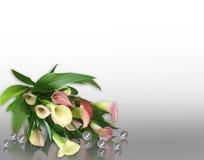 Calla Lily Wedding invitation vector illustration