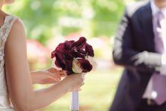 Calla and Rose Bouquet Stock Photos