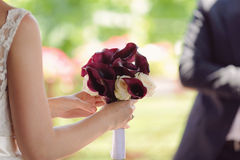 Calla and Rose Bouquet Royalty Free Stock Photos