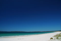 Callala beach at Jervis bay. One of the famous seaside resorts in Australia. The whitiest sands royalty free stock photo