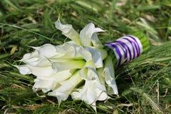 Callalilien-Hochzeitsblumenstrauß Lizenzfreie Stockfotografie