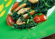 Callaloo spinach Stock Image