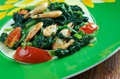 Callaloo spinach Stock Photo