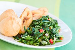 Callaloo Vegetable (Spinach) Royalty Free Stock Image