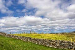 Callanish常设石头,刘易斯,苏格兰小岛  免版税库存图片