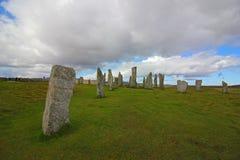 Callanish Bevindende Stenen, Eiland van Lewis, Schotland Stock Fotografie