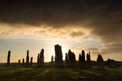 Callanish-Sonnenuntergang Stockfoto