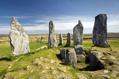 Callanish standing stone circle, Isle of Lewis, Scotland, UK. Royalty Free Stock Photography