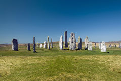 Callanish standing stone circle, Isle of Lewis, Scotland, UK. Royalty Free Stock Images