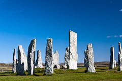 The Callanish standing stones royalty free stock photos