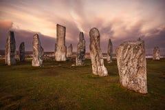 Callanish standing stones in Scotland Stock Photos